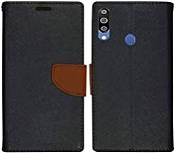 JustAMaze Samsung Galaxy M30 Flip Cover-Luxury Mercury Diary Wallet Style, with Magnetic Flip Cover for Samsung Galaxy M30 (Black:Brown)