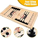 Fast Sling Foosball Puck Game Board Game Middle Size, Table Desktop Battle 2 in 1 Ice Hockey Game, Funny...