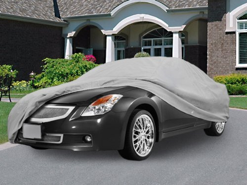 North East Harbor Superior True 100% Waterproof Car Cover Covers Mid Size Sedan - All Season Protection - Gray Color - 3X Pillow Soft Inner Cotton Layer (Fits Length 190' - 210')