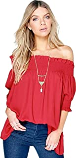 Red Off Shoulder Blouse For Women