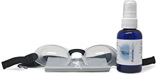 Quartz Silicone Hydrating Sleep Mask Bundle with Soothing Eye Mist for Dry Eyes at Night (Clear)