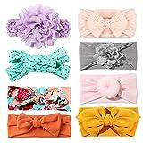 Tacobear Haarband Baby Stirnband Baby Mädchen elastische Haarband Bowknot Kopfband Turban Stirnband...