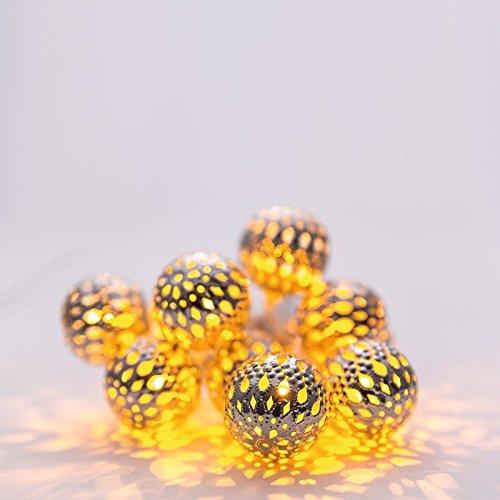 HEITRONIC Lichterkette 10-teilig BALOTA Solarlichterkette LED
