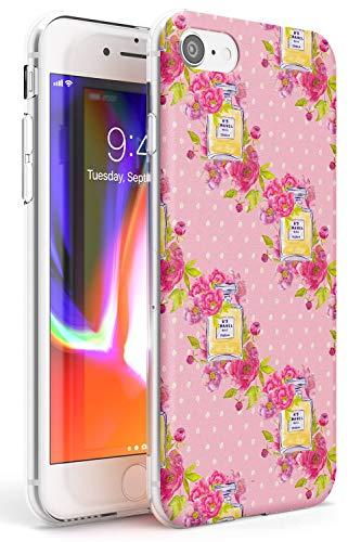 Case Warehouse El Estilo es Siempre Patrón Perfume Slim Funda para iPhone 7/8 / SE TPU Protector Ligero Phone Protectora con Floral Tendencia Moda Diseñador