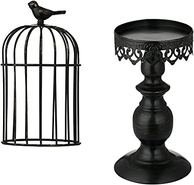 Birdcage Candle Holder, Vintage Candle Stick Holders, Wedding Candle Centerpieces for Tables, Iron Candlestick Holder Home De