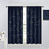 W 96 x L 107 inches Thermal Insulated Grommet Blackout Curtains for Bedroom Darkened curtains in some rooms of home decoration,Constellation,Sky Map Andromeda Lacerta Cygnus Lyra Hercules Draco Bootes