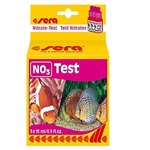sera 04510 Nitrat Test (NO3), Wassertest für ca. 60 Messungen, misst zuverlässig und genau den Nitratgehalt, für Süß- & Meerwasser, im Aquarium oder Teich