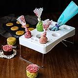 Piping Bag Rack Cake Decorating Icing Bag Stand Cream Bag Rack , Foldable Stainless Steel Piping Tips Holder,Cake Tool DIY Baking