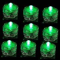 TDLTEK submersible Led Lights - Tea Lights - For Wedding ,Special Events, Green by TDLTEK