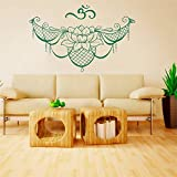 Ajcwhml Sticker Mural Mandala Dentelle Logo Lotus Symbole méditation Yoga Studio Vinyle Autocollant Autocollant Salon décoration - 54X35 CM