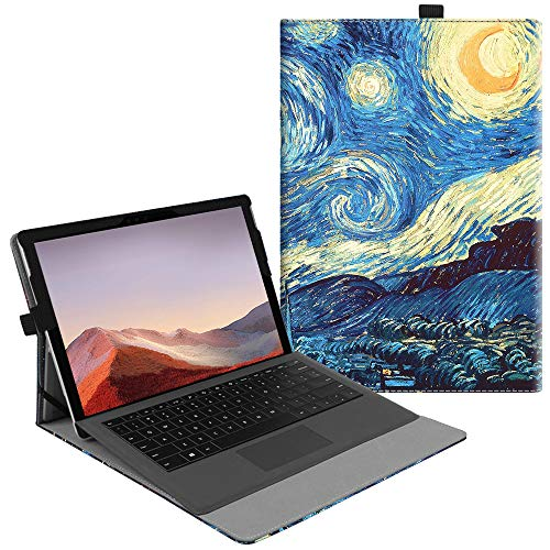 Fintie New Surface Pro 2017 / Surface Pro 4 Case, Multi-Angle Viewing Portfolio Business Cover for Microsoft Surface Pro 2017 / Pro 4 / Pro 3, Compatible with Type Cover Keyboard - Starry Night