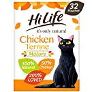 HiLife It's Only Natural Mature Cat Food Chicken Terrine, 32 x 70g Pouches