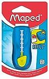 MAPED - Gomme Universal Gom Stick - Gomme Blanche avec étui de Protection - Porte-Gomme Rechargeable - Gomme rétractable - sans Phtalates - sans PVC - Coloris Bleu