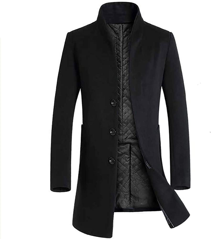Cardigo Jackets for Men Max 54% OFF Warm Max 77% OFF Winter Button S Trench Long Outwear