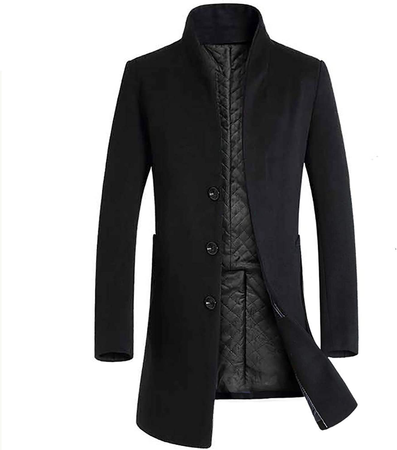 3f9dedb054c LISTHA Suit Cardigan Men's Warm Winter Winter Winter Coat Long Trench Jacket  Slim Overcoat f23a1f