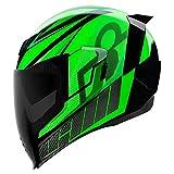 Icon Motorrad Airflite Helm QB1 grün NEUHEIT 2019, Größe: L (59)