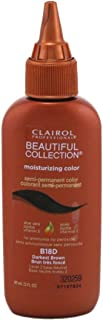 Clairol Beautiful Collection #B018D Darkest Brown 3 Ounce (88ml) (3 Pack)