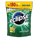ECLIPSE Spearmint Sugarfree Chewing Gum, 180 piece bag from Wrigley