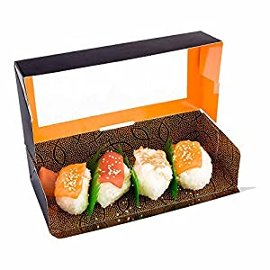 Sakura Vision 7.9 x 3.5 x 1.8 Inch To Go Containers, 200 Clear Window Take Out Containers – Built-In Lid, For Sushi And…