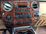 Interior BURL Wood Dash Trim KIT Set for Ford F-250 F250 F-350 F350 F-450 2013 2014 2015 2016 Super Duty
