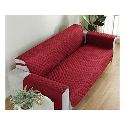 XCYYBB Sofa Cover Sofa Protectors Waterproof from Pets/Dogs/Kids Sofa Covers 3 Seater Couch Covers Furniture Protector Covers Soft Quilted for Pets sofa protector-Red 1 Seater