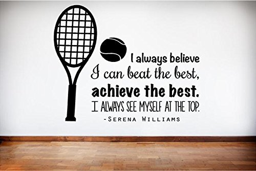 DS Inspirational Decals Serena Williams Tennis Wall Decal - Vinyl Lettering - 20
