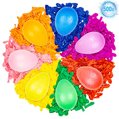 Belmalia 500 Wasser-Bomben Mega-Pack Bunte Wasserballons Mehrfarbig