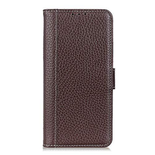 ケース 対応機種「 Redmi Note 10 Pro 」 [KAIDON] [モデル番号: C3-008] 良質PUレザー マグネット開閉 カード収納 手帳型ケース カバー (褐色)