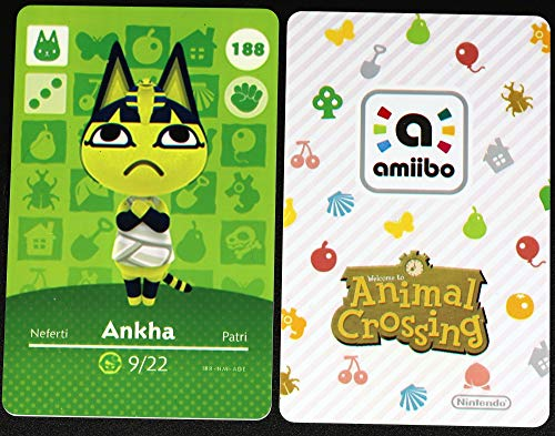 No.188 Ankha ACNH Animal Villager Cards Series 2. Third Party NFC Card. Water Resistant