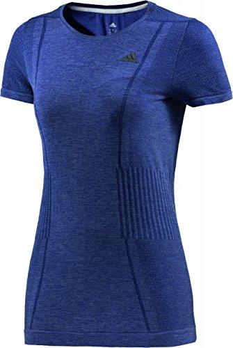 adidas Damen Shirt Adistar Wool Primeknit Short Sleeve, Blau, M