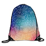 uykjuykj Coulisse Sacchetto,Zaino Coulisse Sacchetto, Frog And Butterfly Sackpack Drawstring Backpack Waterproof Gymsack Daypack Shining Space3 Lightweight Unique 17x14 in