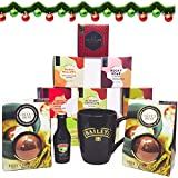 Premium Baileys and Hot Chocolate Gift Set - 12 days Christmas Countdown with Baileys Miniatures and Hot Chocolate Bombs with Marshmallow - Hot Chocolate Advent Calendar