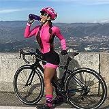 Ropa de manga corta de triatlón-triatlón para mujer Ropa de manga corta de ciclismo con gel Pad Cycling Set (Color : 1, Size : Medium)