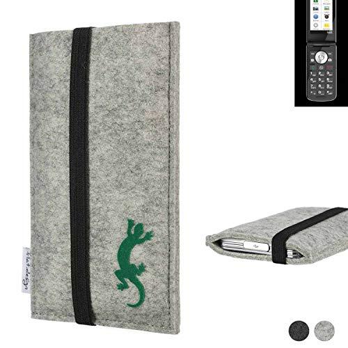flat.design Handy Hülle Coimbra für Emporia TOUCHsmart handgefertigte Handytasche Filz Tasche Hülle fair Gecko