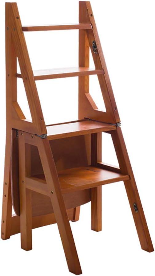 SSPKTY Étape Tabouret Pliable en Bois Échelle escabeaux Multi Purpose Stairway Chaise for Adultes Enfants -M14N (Color : 8#) 1#