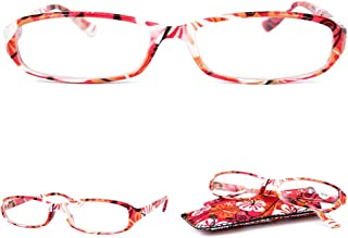 d091ed6450eb VEVESMUNDO Reading Glasses Women Ladies Floral Eyeglasses With Soft case
