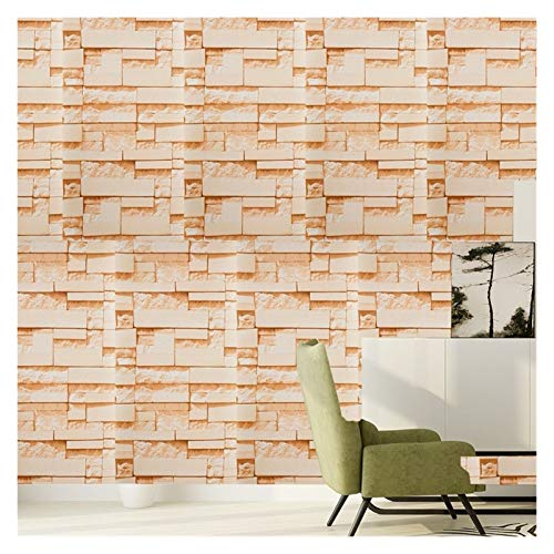 WHYBH HYCSP Red Brick Wallpaper for Wohnzimmer Schlafzimmer Küche Hintergrund Kunst-Wand-Removable Selbstklebende Wand-Papiere Home Decor (Color : Style P, Size : 45cmx1m)