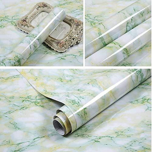 Dikker verf zelfklevend behang, kast garderobe behang 60cm Green Marble