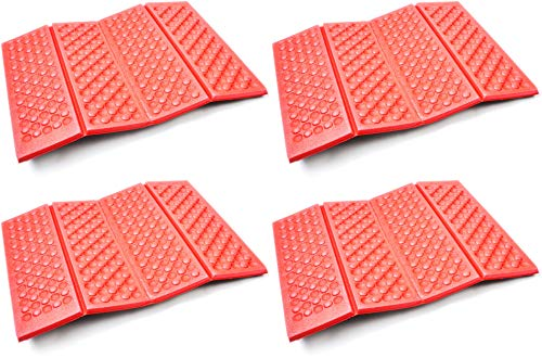 AceCamp 4X Faltbares XPE Sitzkissen Outdoor, Leichtes Thermokissen mit Transporttasche, Wasserdicht und isolierend, Viererpack