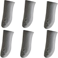 MOMOFLY 銀繊維布 爪先縫い目なし 指サック スマホ ゲーム ゆびさっくMobile ゲーミング 6個入り 0.5mm超薄 超高感度 手汗対策 素手操作のゲーム体験 上級者向け 指カバー スマホ/タブレット 対応 M