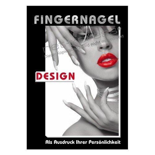 net-xpress Werbeschild für Fingernagel-Design A1, Werbeplakat Plakat Poster Nagelstudio