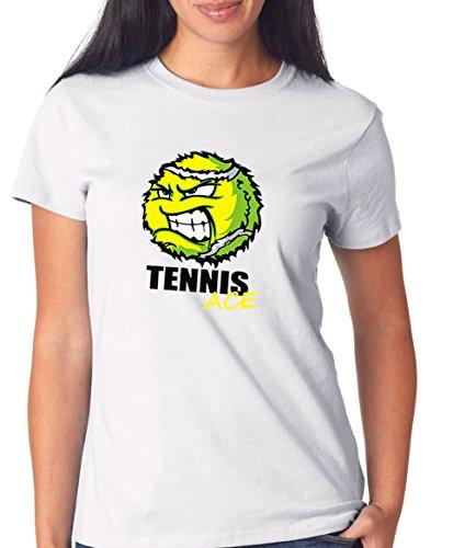 Certified Freak Tennis Ace T-Shirt Girls White S
