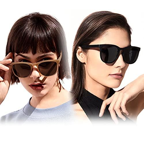 Gafas polarizadas Portátiles Plegables 2 Pares de Gafas de Sol de Gafas de Sol.