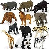 Fikujap Fauna Silvestre Plastic Animals Set Animales Figura Figura Realista Animales Acción Modelo Aprendizaje Juguete Regalo 12 Piezas Realista Jungle Animal Salvaje Juguetes