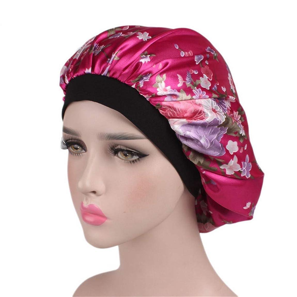 鉛バブル昇る弾性スリーピングキャップ ソフトサテン寝袋サロンボンネットナイトハット脱毛ケモキャップ女性用 (色 : C8)