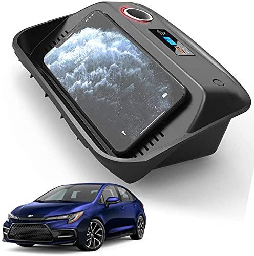 Cargador Inalámbrico para Automóvil para Toyota Corolla 2019 2020 2021 Panel de Accesorios de Consola Central 15W Cargador de Teléfono de Carga Rápida Pad con Puerto USB QC3.0 y Puerto PD de 18W