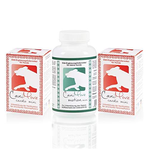 CaniMove Spar-Set Herz & Bewegung Mini: 1 Dose (100 Tabletten) Motion Mini & 2 Packungen (200 Kapseln) Cardio Mini