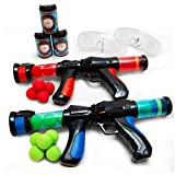 Boley Mega Ball Blasters and Goggles - 67 Pc Foam Balls and Plastic Toy Gun Set for Kids Ages 3+