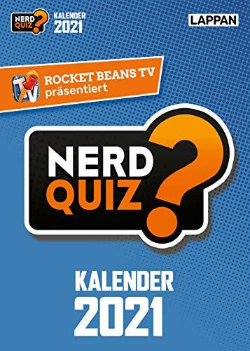 Rocket Beans TV - Nerd Quiz-Kalender 2021 mit Fragen rund um Games, Filme und Popkultur: 365 neue Nerd-Fragen für 2021!