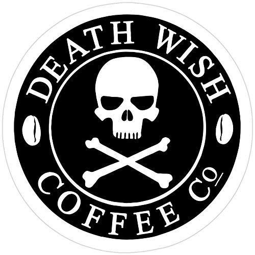 DKISEE Laptop-Aufkleber, Motiv: Death Wish Coffee, Vinyl, wasserdicht, für Auto, Fahrrad, Stoßstange, 15,2 cm (6 Zoll)